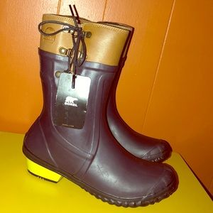 Sorel Dark Purple Rubber Rain Boots